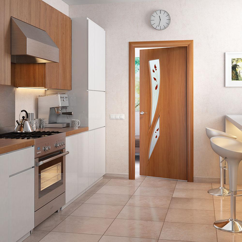 Двери ламинированные в интерьере фото